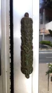 Bank Leumi Zikhron Yaacov mezuzah scrolls